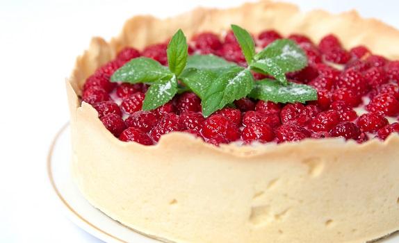 Tærte med hindbær
